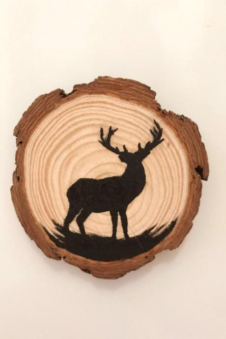 Painted deer magnet